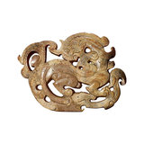 y jade carving dragon pattern